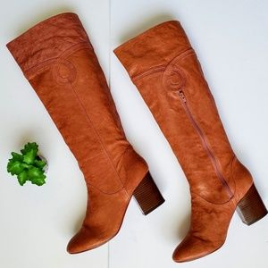 Poetic Licence Sultry Splash Leather Tall Boots 10